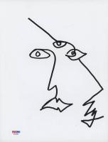 Ezra Miller Signed 8.5x11 Cut with Original Sketch (PSA COA) at PristineAuction.com