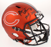 "Brian Urlacher Signed Chicago Bears Full-Size Custom Matte Orange Speed Helmet Inscribed ""HOF 2018"" (JSA COA)"