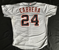 "Miguel Cabrera Signed 2012 Detroit Tigers Game-Used Jersey Inscribed ""Triple Crown 2012"" & ""Game Used"" (PSA LOA & Mears LOA) at PristineAuction.com"