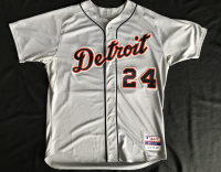 """Miguel Cabrera Signed 2012 Detroit Tigers Game-Used Jersey Inscribed """"Triple Crown 2012"""" & """"Game Used"""" (PSA LOA & Mears LOA) at PristineAuction.com"""