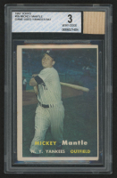 1957 Topps #95 Mickey Mantle Game Used Yankees Bat (BGS 3)