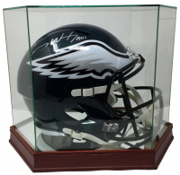 "Carson Wentz Signed Philadelphia Eagles Full-Size Authentic On-Field Helmet Inscribed ""AO1"" with Display Case (Fanatics Hologram)"