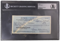Moe Howard Signed Personal Check (BGS Encapsulated)
