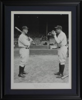"Babe Ruth & Lou Gehrig LE ""Opening Day Photo"" 24x29 Custom Framed Giclee Display"
