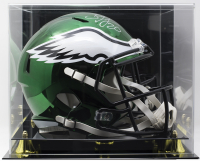 Brian Dawkins Signed Philadelphia Eagles Full-Size Chrome Replica Speed Helmet with Display Case (JSA COA)