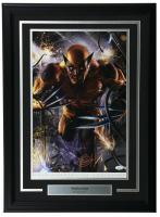 "Greg Horn Signed ""Wolverine"" 13x19 Custom Framed Lithograph Display (JSA COA)"