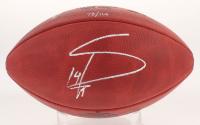 "Stefon Diggs Signed LE ""The Minnesota Miracle"" Logo ""The Duke"" Official NFL Game Ball (TSE LOA)"