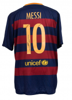 "Lionel Messi Signed Barcelona Nike Jersey Inscribed ""Leo"" (Messi COA)"