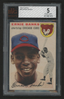 1954 Topps #94 Ernie Banks RC (BVG 5) at PristineAuction.com