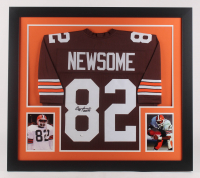 "Ozzie Newsome Signed Cleveland Browns 31x35 Custom Framed Jersey Inscribed ""HOF 99"" (JSA COA) at PristineAuction.com"