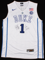 """Zion Williamson Signed Duke Blue Devils Jersey Inscribed """"Go Duke"""" (PSA COA) at PristineAuction.com"""