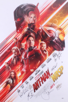 """""""Ant-Man and the Wasp"""" 27x40 Movie Poster Signed by (7) with Paul Rudd, Michael Douglas, Peyton Reed, Laurence Fishburne, Evangeline Lilly (Beckett LOA)"""