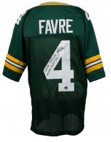 Brett Favre Signed Green Bay Packers Jersey with (5) Career Stat Inscriptions (Favre COA)