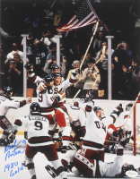 """Neal Broten Signed Team USA """"Miracle On Ice"""" 11x14 Photo Inscribed """"1980 Gold!"""" (TSE COA) at PristineAuction.com"""