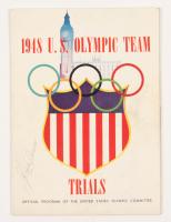 Jesse Ownens Signed 1948 US Olympic Team Magazine (Beckett LOA)