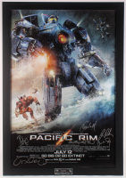 """""""Pacific Rim"""" 30.5x43.5 Custom Framed Movie Poster Signed by (6) with Charlie Hunnam, Charlie Day, Ron Pearlman, Guillermo del Toro (Beckett LOA)"""