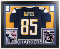 Antonio Gates Signed Los Angeles Chargers 35x43 Custom Framed Jersey (Beckett Hologram)