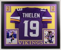 Adam Thielen Signed 35x43 Custom Framed Jersey (Beckett COA)