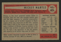 1954 Bowman #65 Mickey Mantle at PristineAuction.com