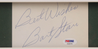 "Bart Starr Signed Green Bay Packers 32x36 Custom Framed Cut Inscribed ""Best Wishes"" (PSA LOA) at PristineAuction.com"
