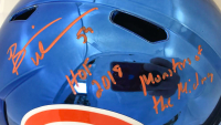 "Brian Urlacher Signed Bears Full-Size Blue Chrome Speed Helmet Inscribed ""HOF 2018"" & ""Monsters of the Midway"" (JSA COA) at PristineAuction.com"
