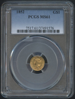 1852 $1 One Dollar Liberty Head Gold Coin (PCGS MS 61)