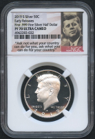 2019-S 50¢ Kennedy Silver Half Dollar with Kennedy Label - Ultra Cameo Proof - Early Releases (NGC PF 70 Ultra Cameo)