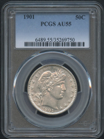 1901 50¢ Barber Half Dollar (PCGS AU 55) at PristineAuction.com
