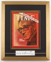 Henry Kissinger Signed 15.5x19 Custom Framed Cut (PSA COA)