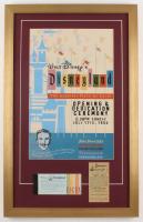 Disneyland 17x27 Custom Framed Poster Print Display with Vintage Ticket & Parking Pass