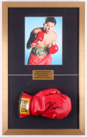 Julio César Chávez Signed 17x27 Custom Framed Everlast Boxing Glove Display (JSA COA)