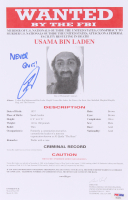 "Robert J. O'Neill Signed Osama Bin Laden FBI Wanted 8.5x13 Document Inscribed ""Never Quit"" (PSA COA) at PristineAuction.com"