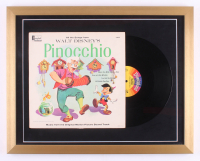 "Vintage 1959 Walt Disney's ""Pinocchio"" 19x24 Custom Framed Vinyl Album Display"