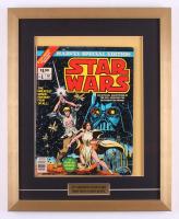"Vintage 1977 ""Star Wars"" Issue #1 Marvel 17x21 Custom Framed Comic Book"