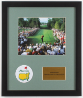 "Tiger Woods ""18th Tee at The Masters"" 16x19 Custom Framed Photo Display with Patch"