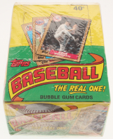 """1987 Topps Unopened """"The Real One"""" Bubble Gum Baseball Cards Box with (36) Packs"""