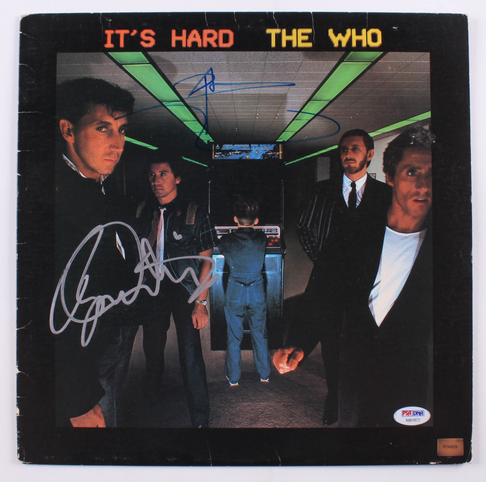 """Pete Townshend & Roger Daltrey Signed The Who """"It's Hard"""" Vinyl Record Album (PSA Hologram) at PristineAuction.com"""