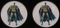Lot of (2) 2014 1 Ounce .999 Silver Batman Coins