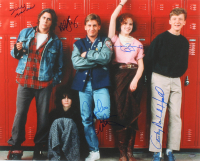 """The Breakfast Club"" 16x20 Photo Cast-Signed by (5) with Judd Nelson, Molly Ringwald, Anthony Michael Hall, Emilio Estevez & Ally Sheedy (Schwartz COA)"
