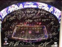 "2019 New England Patriots Team-Signed ""Super Bowl LIII"" LE 16x20 Photo with (20+) Signatures Including Tom Brady, Julian Edelman, Rob Gronkowski (Steiner COA)"