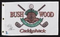 "Chevy Chase Signed ""Caddyshack"" Golf Pin Flag (Schwartz COA & Chase Hologram)"