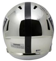 Bo Jackson Signed Oakland Raiders Full-Size Chrome Speed Helmet (Beckett COA) at PristineAuction.com