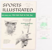 Ben Hogan Signed Shady Oaks Country Club Receipt with 1957 Sports Illustrated Magazine (JSA COA)