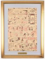 Original Disney 1933 Silly Symphony 20.5x27.5 Custom Framed Newspaper Comic Strip