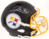 Hines Ward Signed Pittsburgh Steelers Full-Size Custom Matte Black Speed Helmet (TSE COA)