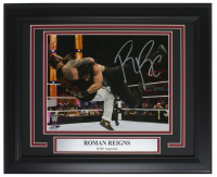 Roman Reigns Signed WWE 13x16 Custom Framed Photo Display (SI COA)