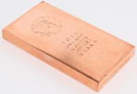 """1 Kilo .999 Fine Copper """"Liberty"""" Bullion Bar"""