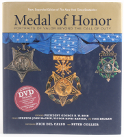 """Medal of Honor: Portraits of Valor Beyond the Call of Duty"" LE Hardcover Book Signed by (6) with Robert Simanek, Ernest E. West, Hiroshi Miyamura, Hershel Williams, Wesley Fox, & Allen Lynch"