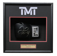 Floyd Mayweather Signed 18x19x4 Custom Framed Boxing Glove Display (Beckett COA)