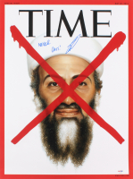 "US Navy Seal Robert O'Neill Signed Osama Bin Laden 18x24 TIME Magazine Cover Photo Inscribed ""Never Quit!"" (PSA COA)"